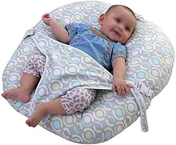 MAILIER Baby Side Sleep Pillow,Anti Roll Cotton Infant Sleep Reflux Pillow,45/° Inclination Design Wedge Adjustable Infant Cushion,Washable and Dryable for 0~3 Year-Old Newborns
