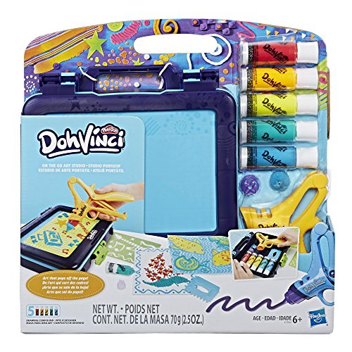 DohVinci On the Go Art Studio Art Case for Kids and Tweens with 5 Non-Toxic Colors by Play-Doh Brand