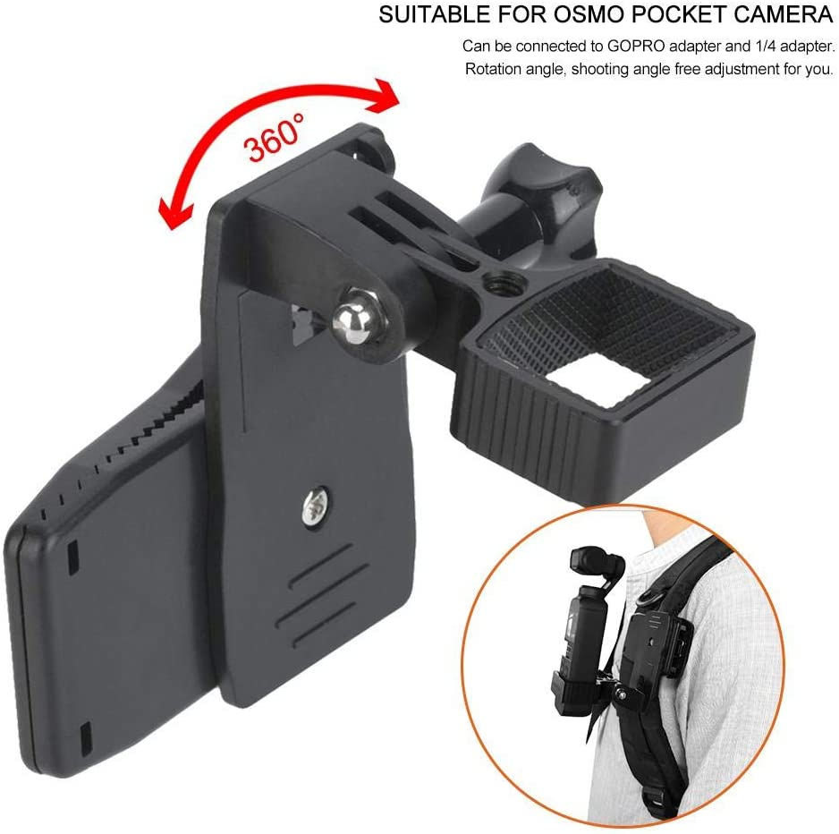 Xinwoer Pocket Durable Aluminum Alloy Action Camera Strap Clip Holder