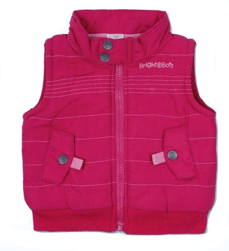 Bright Bots 2/3yrs Girl Gilet Bodywarmer Jacket- Pink