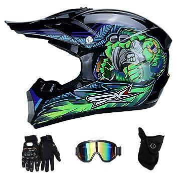 LTongx Cascos de Motocross para Moto, Guantes y Gafas de Sol ...