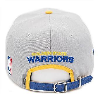 191f238accb Pro Standard Men s NBA Warriors Team Logo Buckleback Hat Gray NO Pins at  Amazon Men s Clothing store