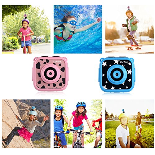 Ourlife kids Waterproof Camera with Video Recorder includes 8GB memory card (Blue) by Ourlife (Image #8)