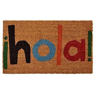 Home & More 121561729 Hola Doormat, 17  x 29  x 0.60 , Multicolor