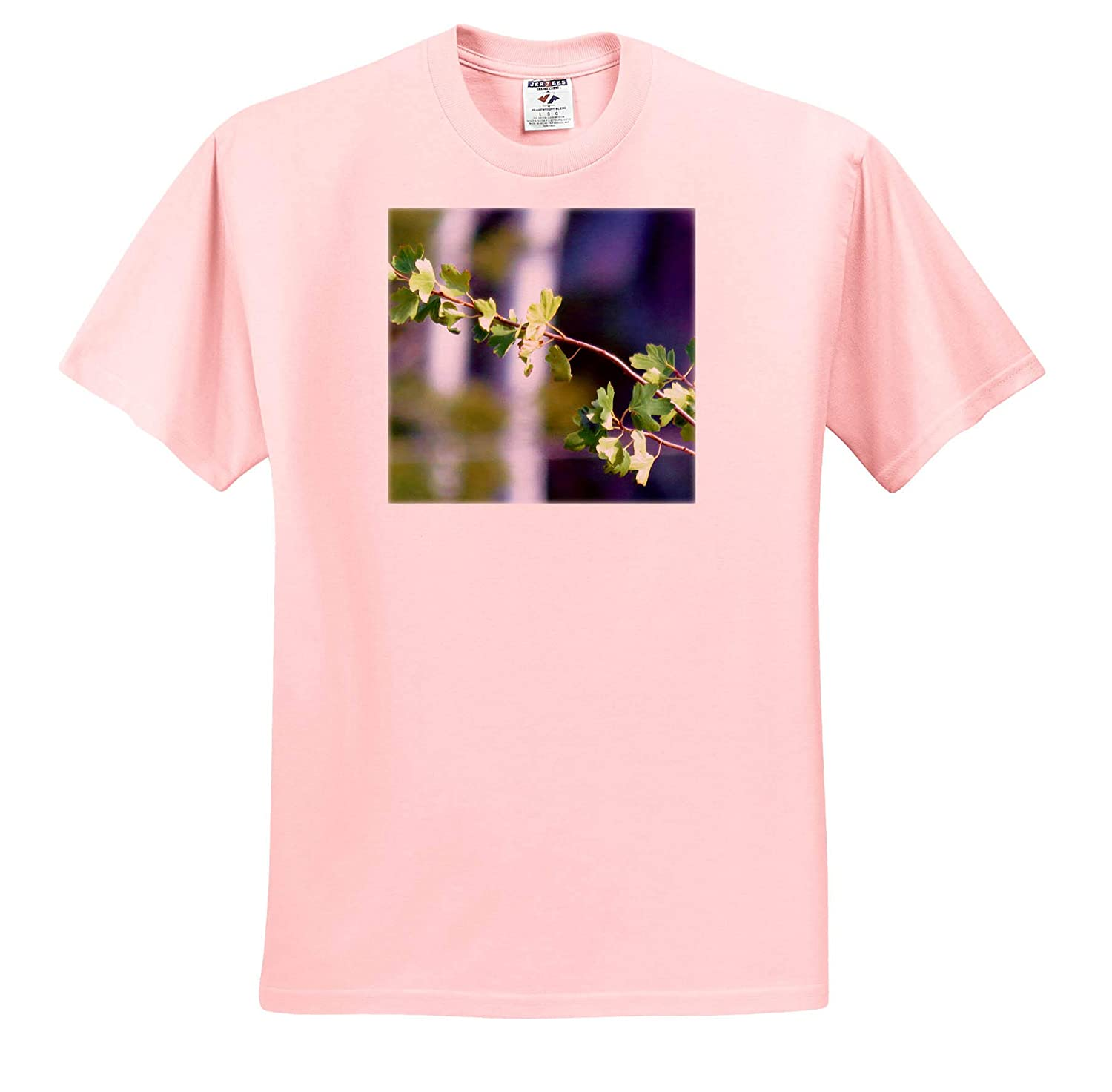 Branch with Leaves 3dRose Jos Fauxtographee A Delicate Branch with Leaves Budding Out in Summer T-Shirts