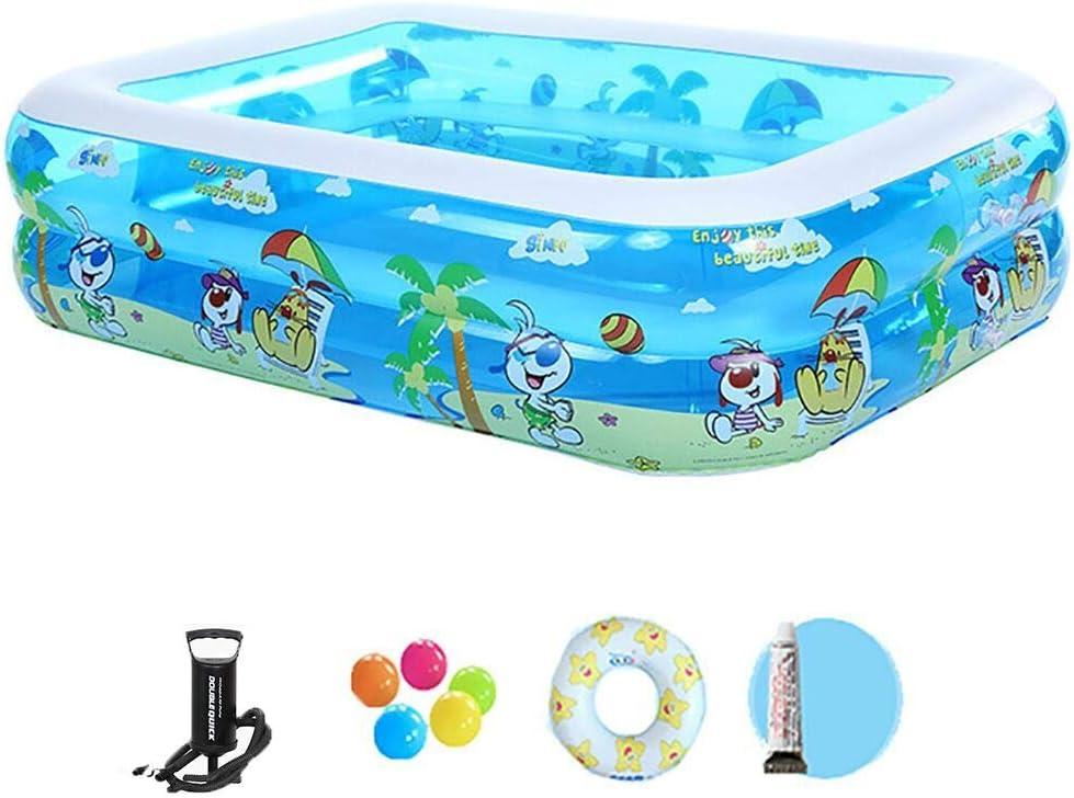Huyuan2 Gran Piscina de natación de la Piscina de la Familia del rectángulo Infantil Plegable portátil Plegable portátil