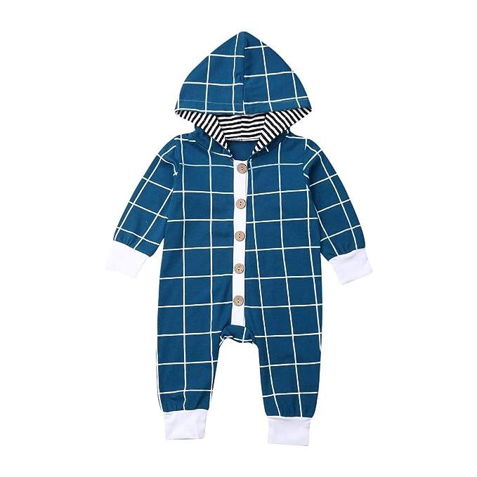 Amazon.com: Bebé recién nacido niño mameluco de algodón a ...