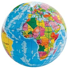 Palm-Sized Globe Bouncy Squeezy Foam Earth Ball Toy Colour-Defined Countries