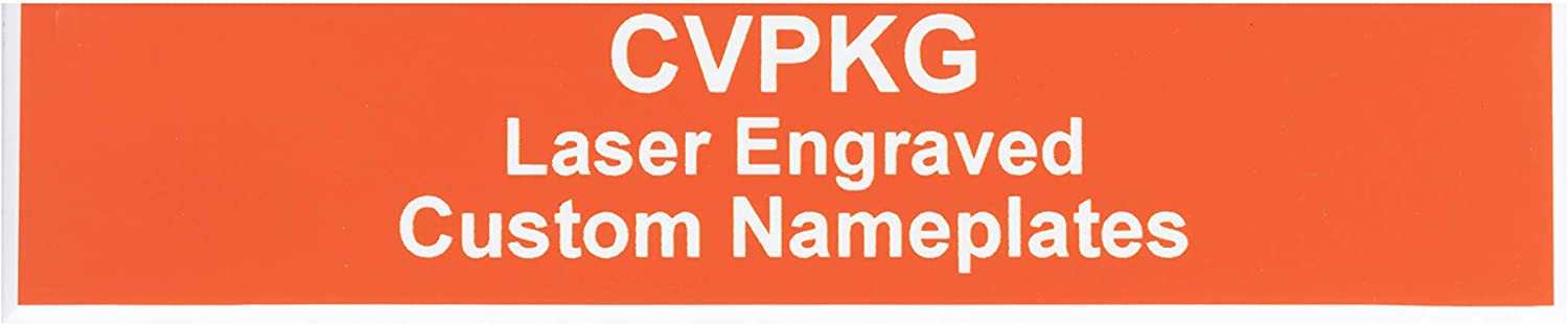 Custom Laser Engraved Pelican 1560 Nameplate (3 Text Lines, Orange)