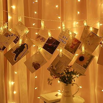YEOLEH Photo 20 Clips 40 LED Fairy String Lights