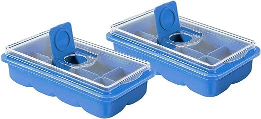Bandeja para cubitos de hielo extra grande con tapa – Juego de 2 ...
