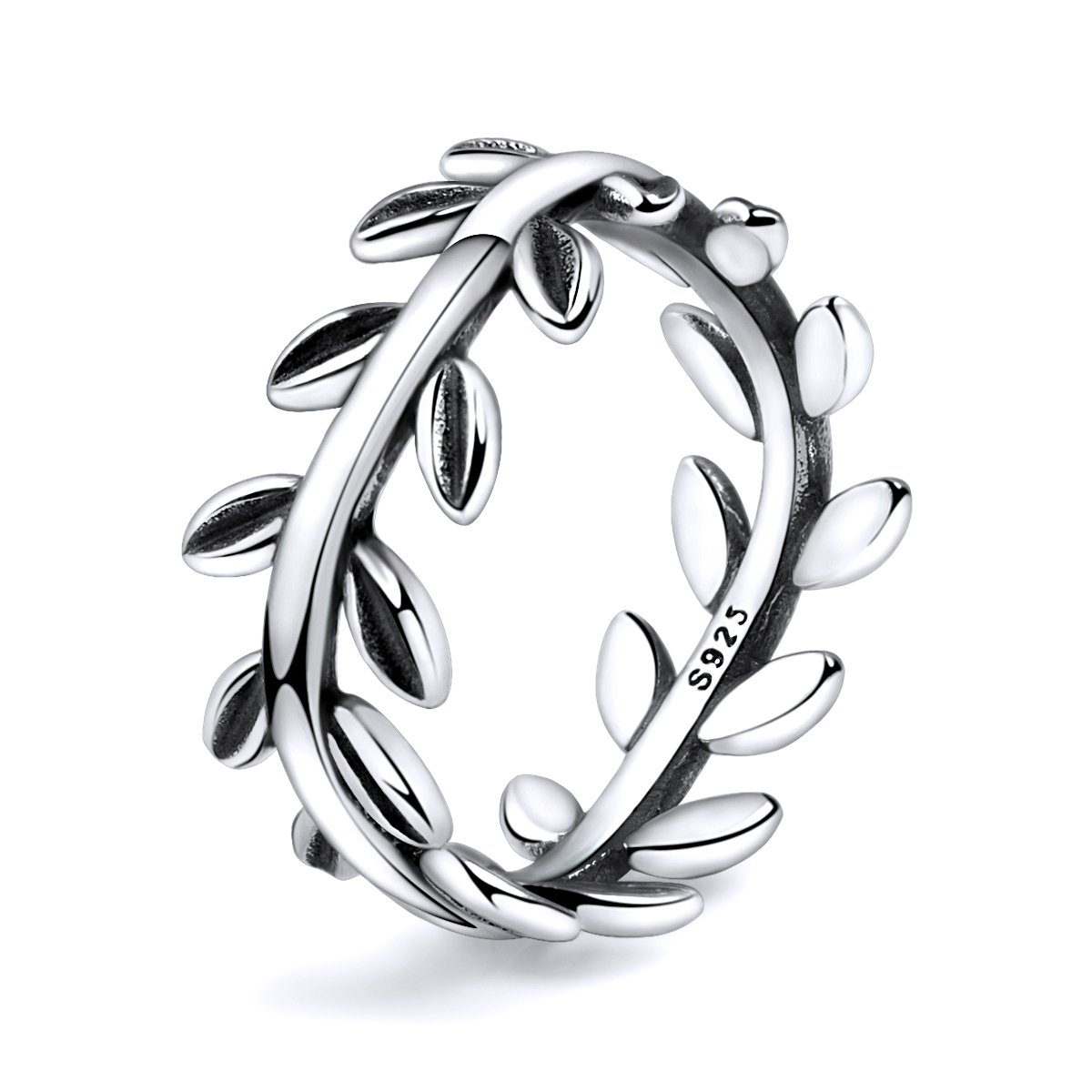 Twenty Plus Simple Sterling Silver Laurel Wreath Finger Ring Gifts For Women & Girls