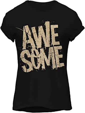 AWESOME-Cool Graphic T-Shirt, Premium Cotton by ZEZIGN