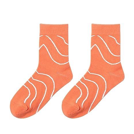 Scrox 1 Pares Calcetines Mujer Invierno Sock Japoneses Dibujos Animados Creativo Unisex Algodón Personalidad Casual Otoño