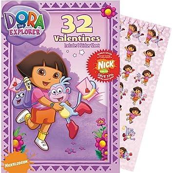 Amazoncom Dora the Explorer Valentines Day Cards 32ct with