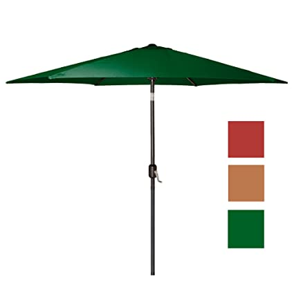 Punchau 9 Ft Outdoor Patio Umbrella With Tilt   Green Market Umbrellas On  Sale
