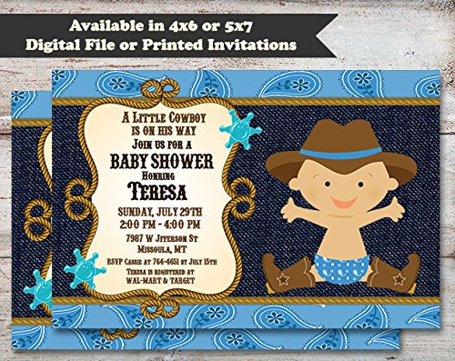 Amazon Cowboy Baby Shower Invitation Cowgirl