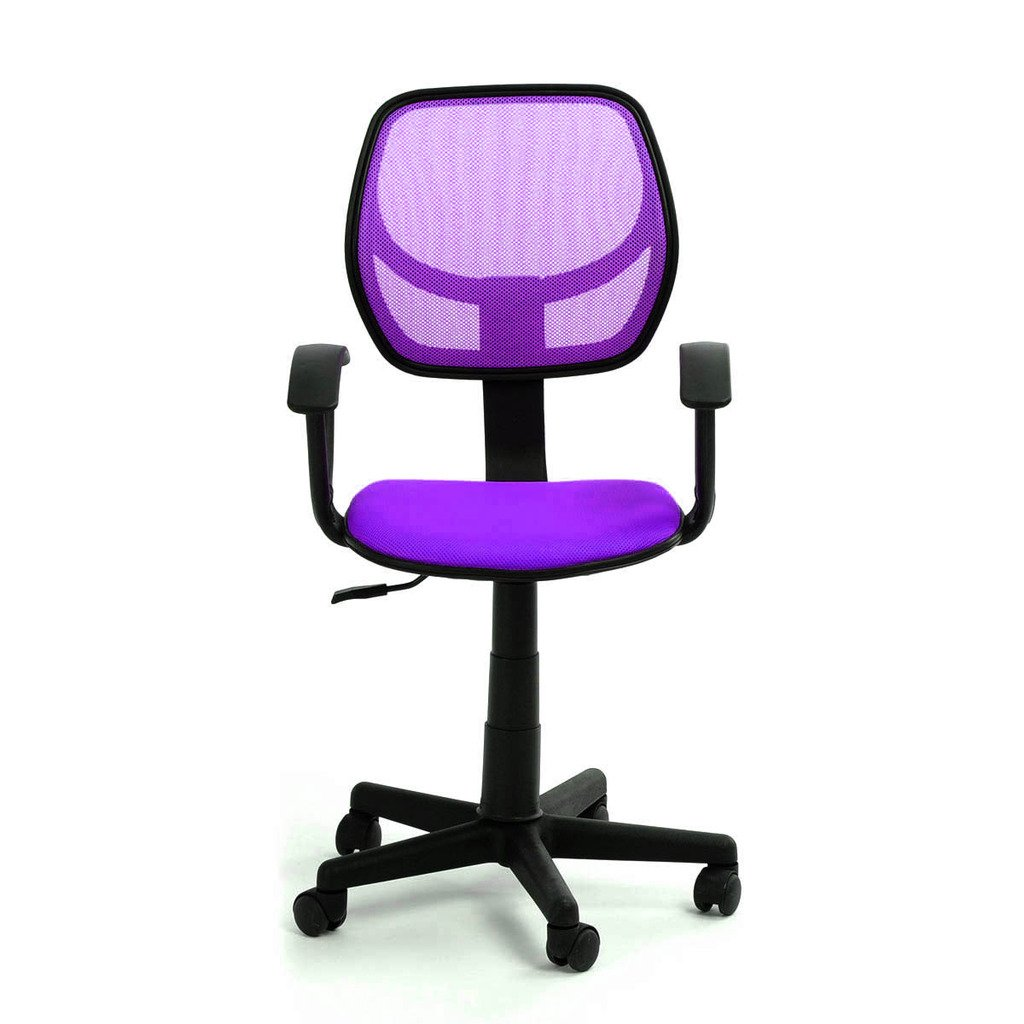 GreenForest Mesh Desk Chair Computer Office Swivel Chair for Kids (Purple)