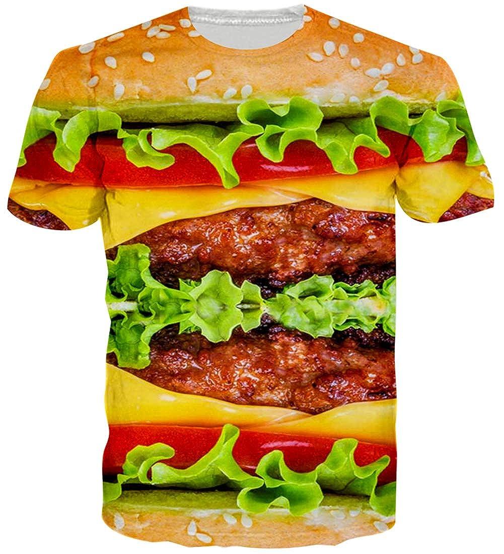 Loveternal Unisex 3D Stampato Casual Manica Corta Grafica T-Shirt