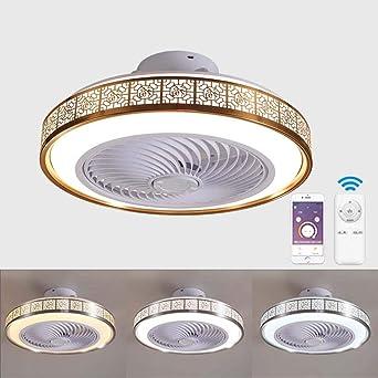 Ventilador de techo con lámpara, 3 Velocidades, regulables con ...