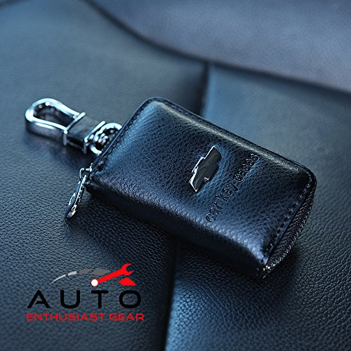 car-keychain-cover-premium-leather-key-chain-coin-holder-keyring-hook-wallet-zipper-case-remote-smar