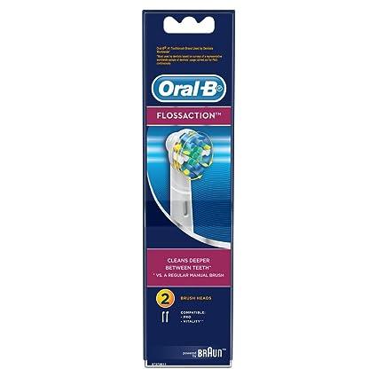 Oral-B - Pack de 2 cabezales para cepillos de dientes recargables - FlossAction EB25