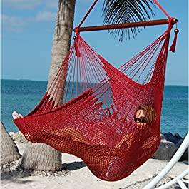 Caribbean Hammocks Large Chair with Footrest &#821...