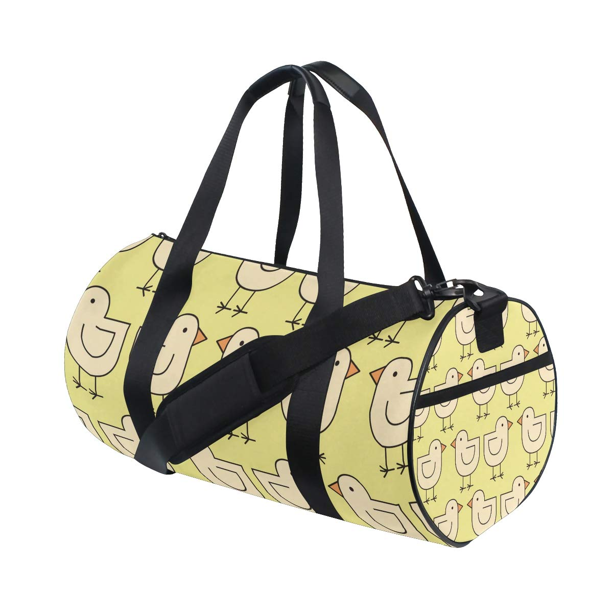 Sports Gym Duffel Barrel Bag Chick Bird Animal Yellow Travel Luggage Handbag for Men Women
