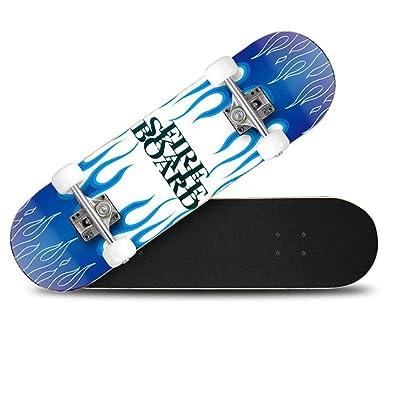 Maple Double Warp 4-Wheel Skateboard Travel Adult Youth Road Brush Street Vitality Board Ice Blue 802010cm : Sports & Outdoors