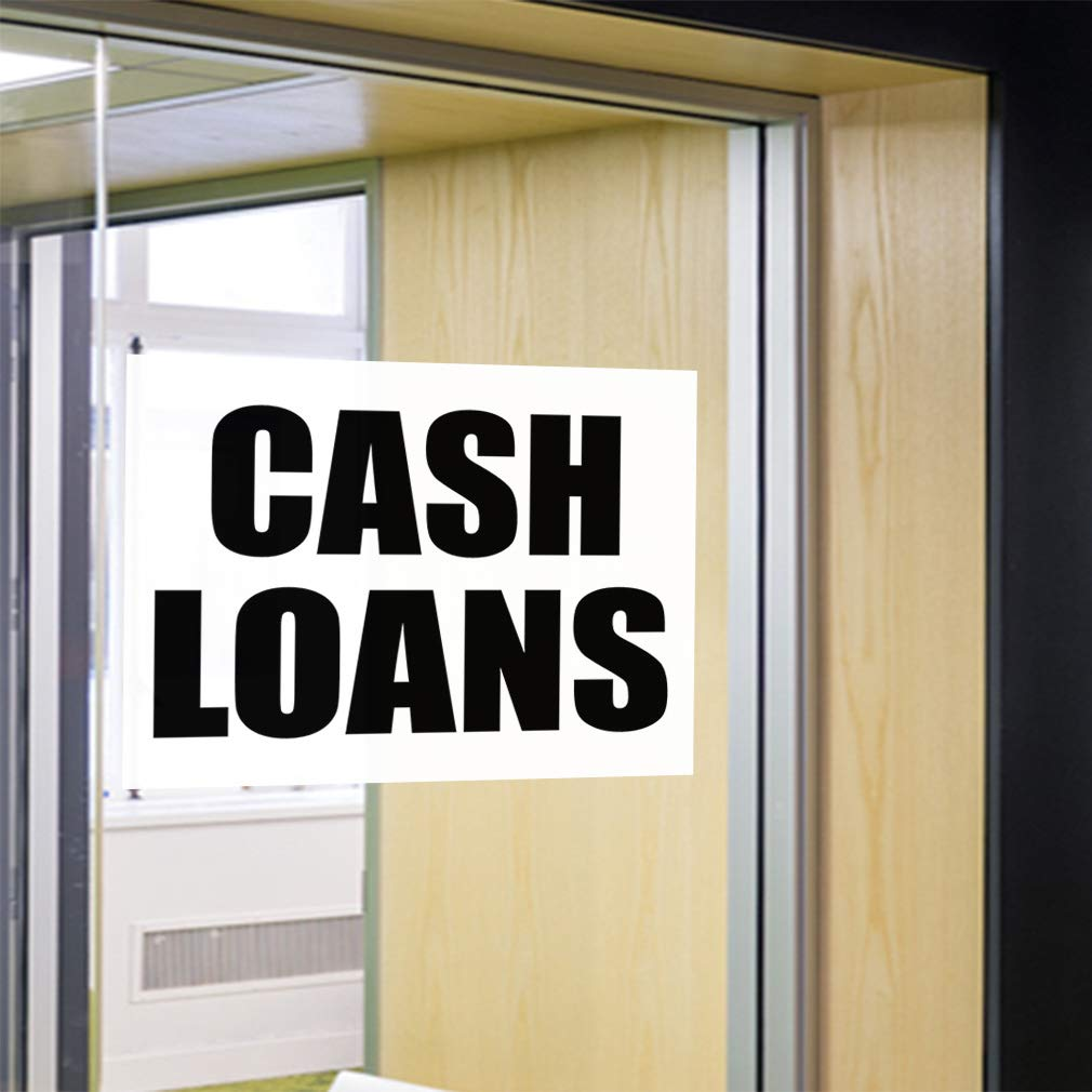 One Sticker Decal Sticker Multiple Sizes Cash Loans Business Cash Loan Outdoor Store Sign Black 69inx46in