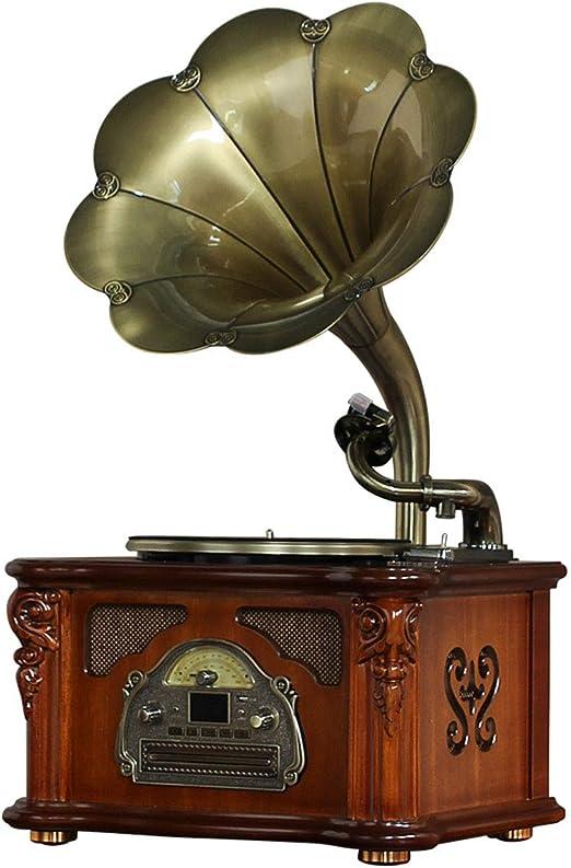 GOM Tocadiscos, Gramófono Retro con 3 Velocidades 33/45/78 RPM ...