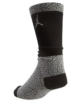 Nike Elephant Crew - Calcetines Línea Michael Jordan Unisex, Color Gris/Negro, Talla L: Amazon.es: Deportes y aire libre