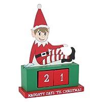eBuyGB® in legno calendario dell'Avvento - Natale Natale riutilizzabile fai da te conto alla rovescia