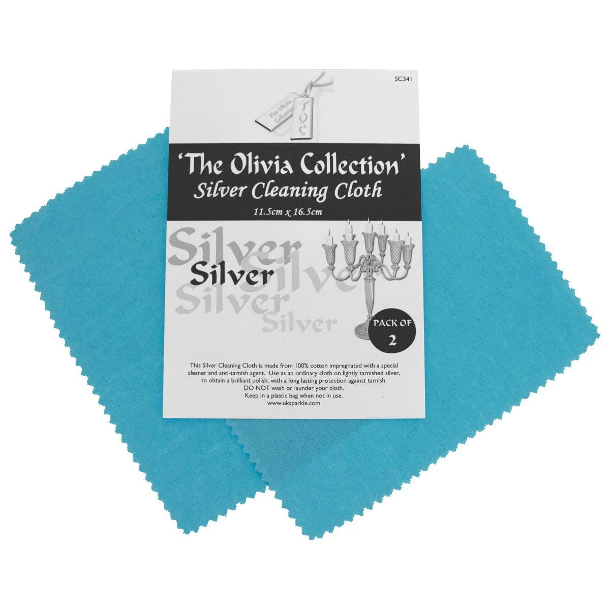 TOC Silver Jewellery Anti Tarnish Polishing Cloth X 2 - Standard 115mm x 165mm