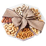 Nutty New Yorker Gourmet Food Nuts Gift Basket, 6 Different Nuts and Rice Cracker Mix - 18.1 Ounces - Kosher Certified