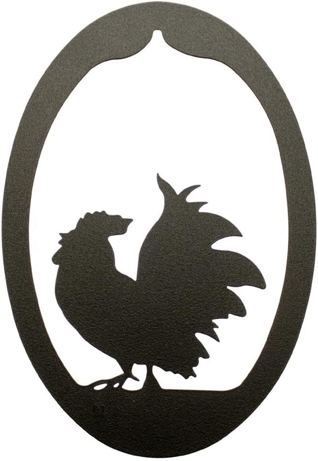 Innovative Fabricators, Inc. Poultry Chicken Rooster Oval Wall Decor Plaque