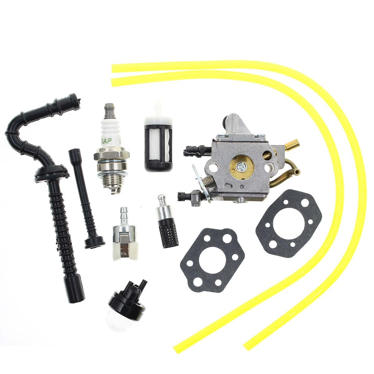 Carbhub C1Q-S258 Carburetor for Stihl MS192 MS192T MS192TC Chainsaw Carb Replace Zama C1Q-S258 1137-120-0650 with Fuel Line Filter Spark plug Tune-up Kits by Carbhub