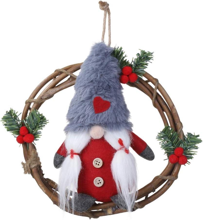 Forart Handmade Swedish Gnome, Gnome Plush Brown Tomte Scandinavian Tomte Christmas Decoration Holiday Presents