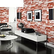 3D solid faux brick pattern brick wallpaper/Cultural brick and white tile brick living room restaurants wallpaper/ clothing store Chinese restaurant wallpapers-D