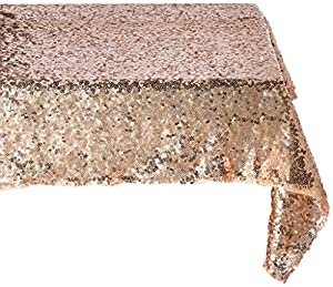 Amazon.com: Trlyc 14X108-Inch Real Rose Gold Sequins ...
