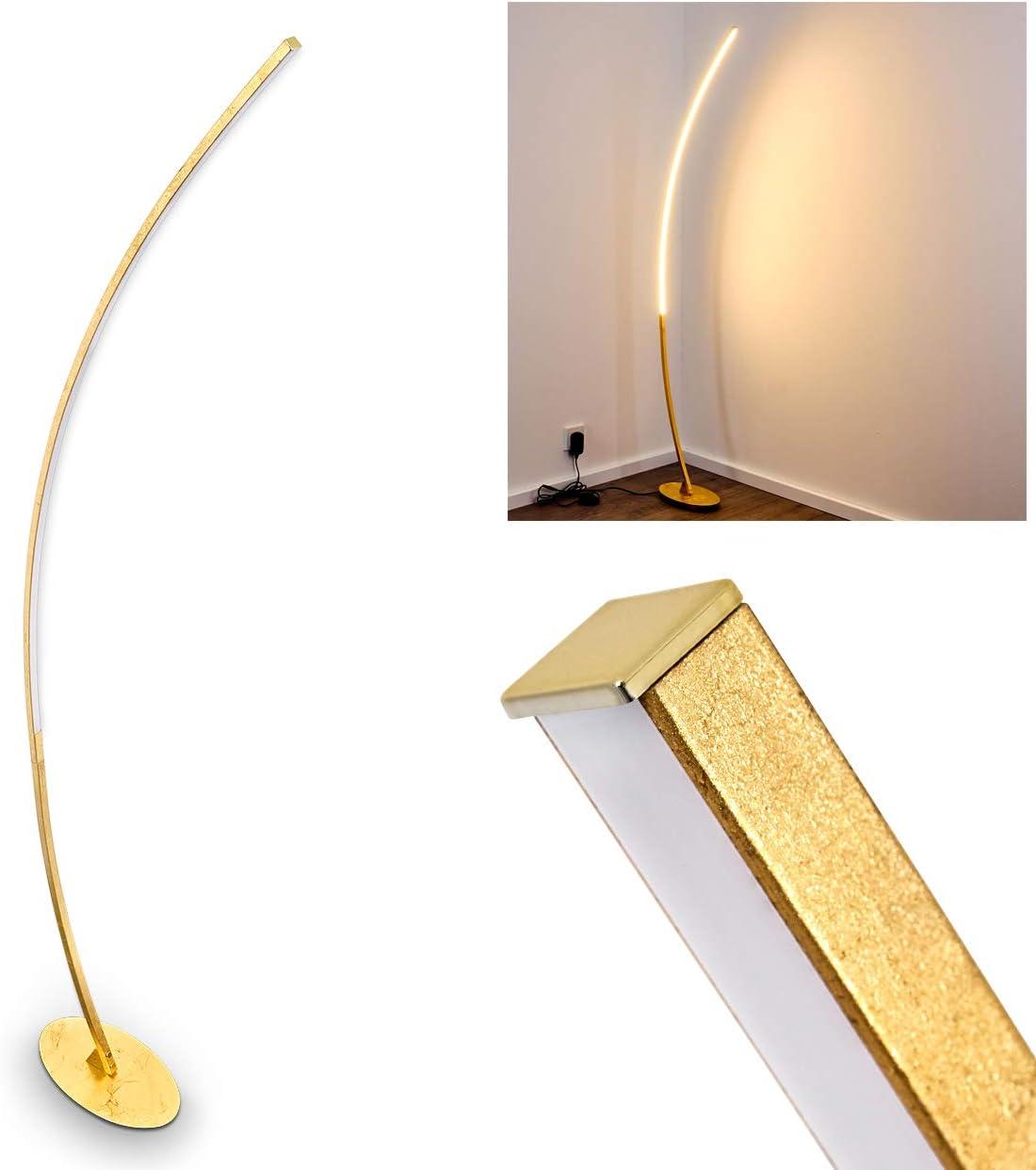 Led Designer Standlampe Nagu In Gold Sehr Extravagant Gebogene