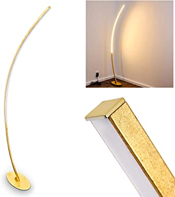 Lámpara de pie de diseño LED - muy extravagante - lámpara de pie curvada con interruptor de pie y cable - llamativa lámpara de sala semicircular - lámpara de lectura -: Amazon.es: Iluminación