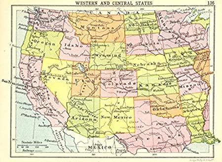 USA. Western and Central States; Small map - 1912 - old map ... on map of asia, map with legend, map from mexico, map for us, map macon ga, map to mexico, map norms, map plymouth ma, map cincinnati ohio, map detroit mi, map of the, map ofmexico, map with states, map new zealand, map south africa, map lodi ca, map in europe, map florida, map england uk, map with hawaii,