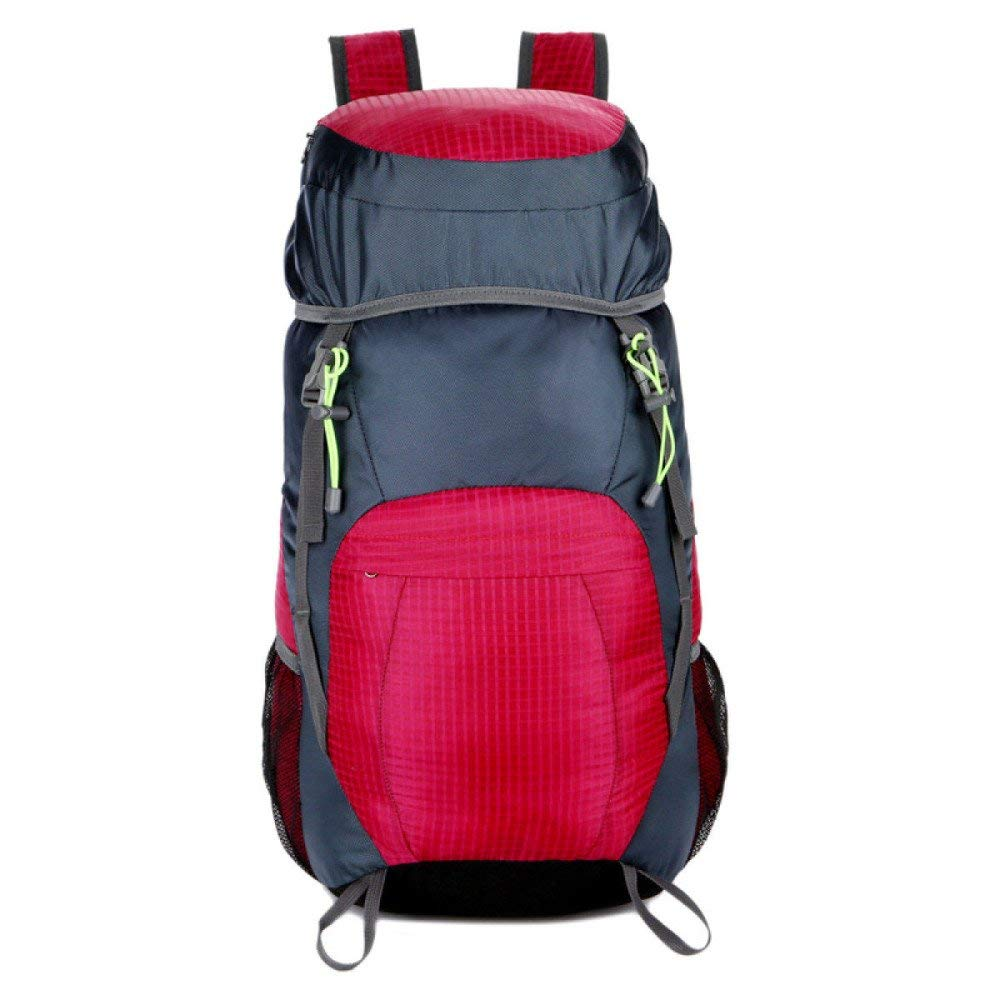 Color : Red XIAOXIANNV Outdoor Hiking Backpack Leisure Travel Backpack Men and Women Multi-Function Hiking Adventure Backpack 20-35L Tactical Backpack Waterproof Folding Bag Multi-Color Optional