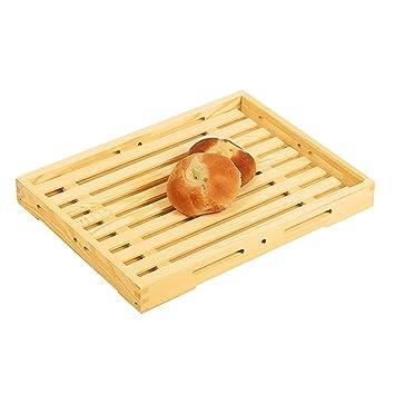 Bandeja de madera de la porción Placa de madera del pan de la placa del pan