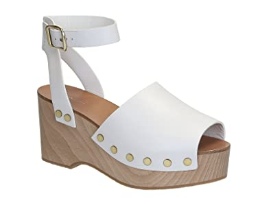 a9743fcadbae6 Céline Wedges Clogs Sandals in White Calf Leather - Model Number   321243CDCC 01OP - Size