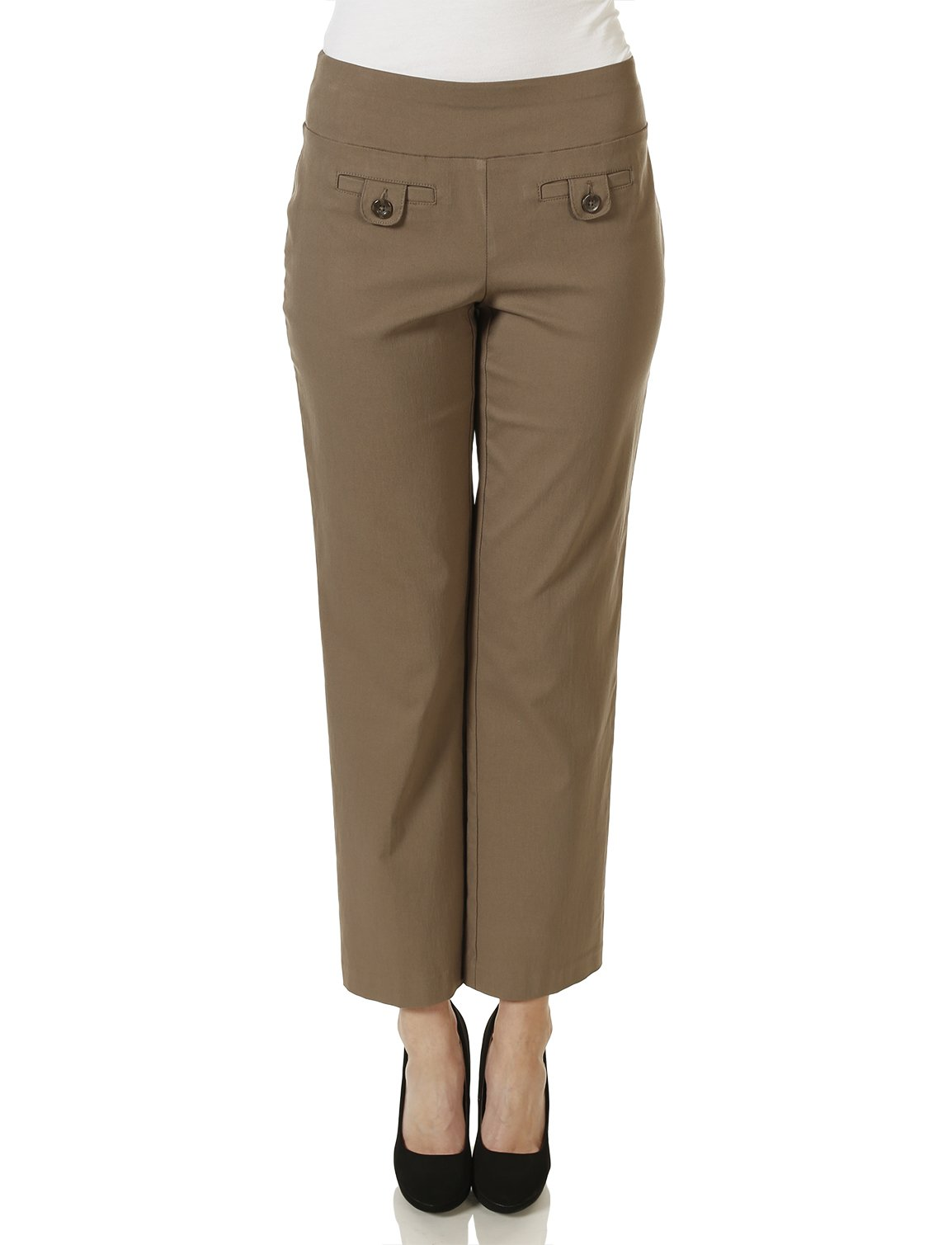 Style & Co. Straight-Leg Pants Mocha Medium
