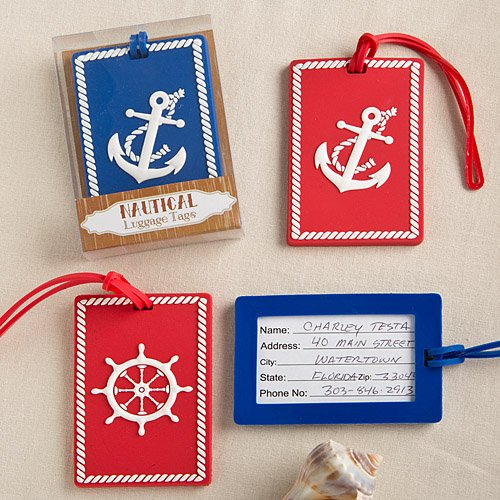 Nautical luggage tags From Gifts By Fashioncraft - 48 count by Fashioncraft