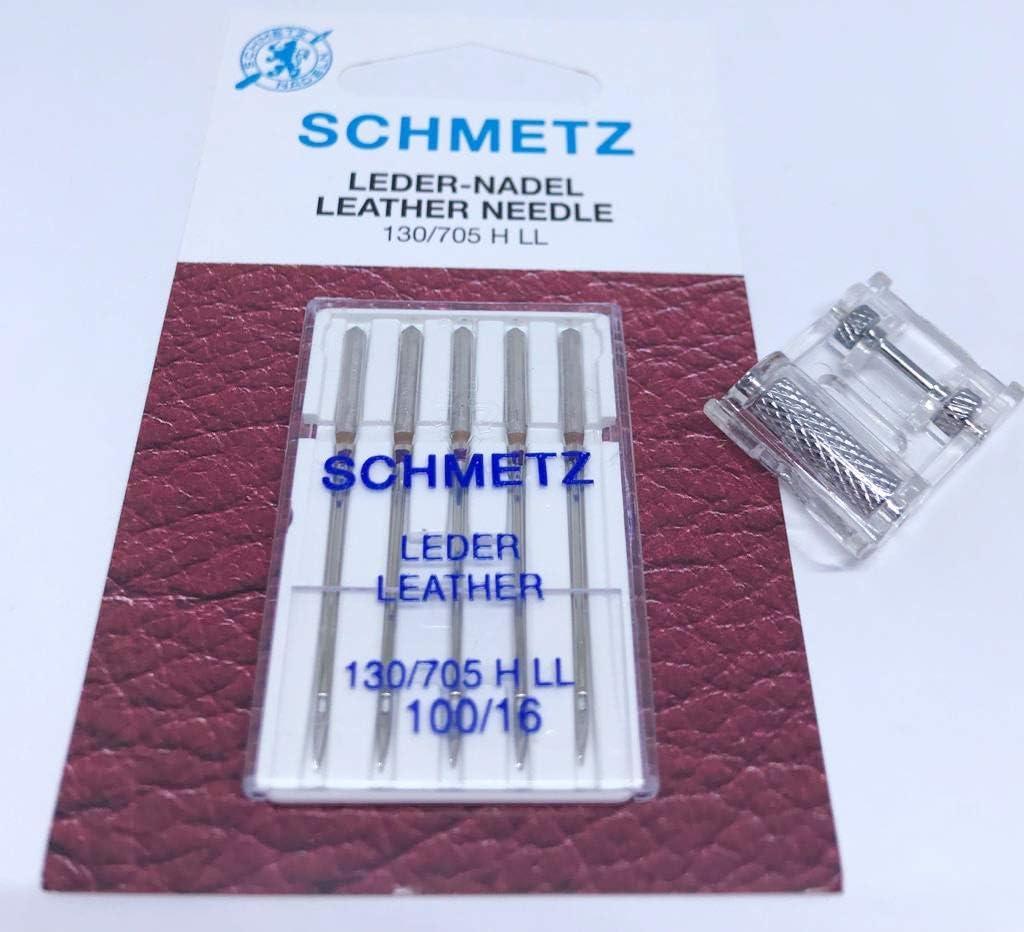 Nähmaschinenzubehör24 Original Schmetz Piel Agujas 130/705 H LL ...