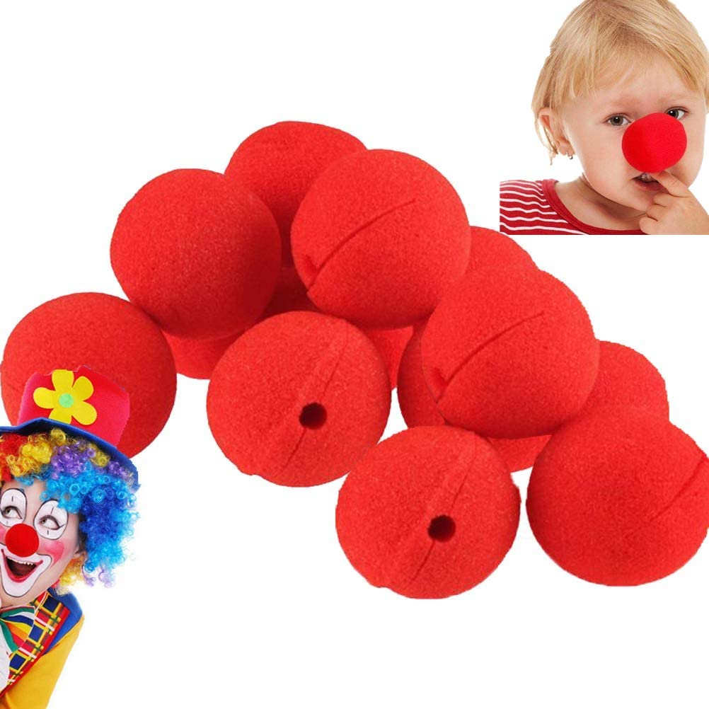 Clown Red Nose Plastic Halloween Cosplay Dress Party For Funny Custome 9F4C396